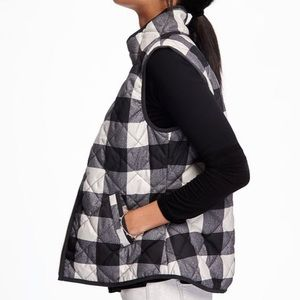Old navy quilted checkered plaid vest